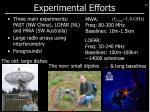 experimental efforts
