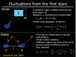 fluctuations from the first stars