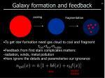 galaxy formation and feedback