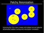 patchy reionization