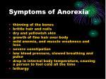 symptoms of anorexia