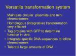 versatile transformation system