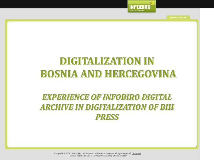 digitalization in bosnia and hercegovina n.