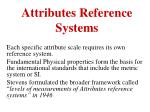attributes reference systems