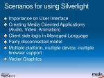 scenarios for using silverlight