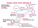 snoopy cache state machine i