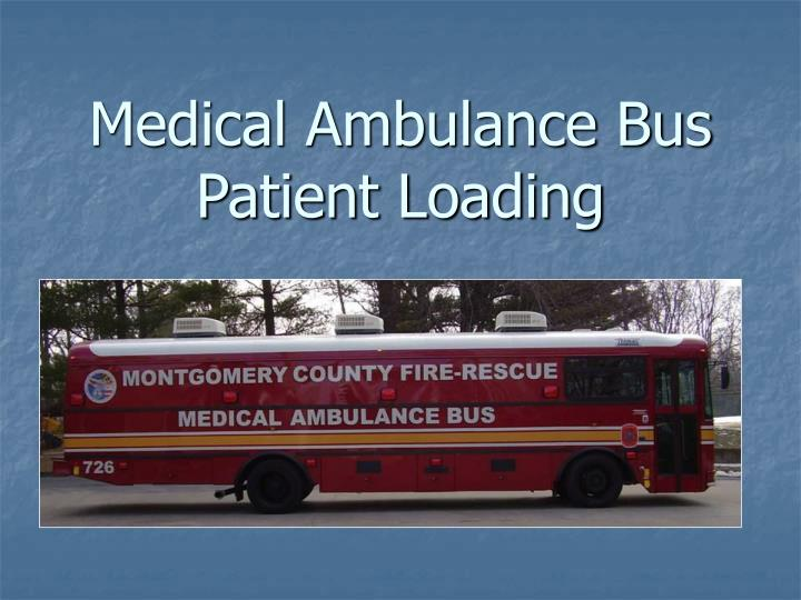 medical ambulance bus patient loading n.
