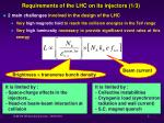 requirements of the lhc on its injectors 1 3