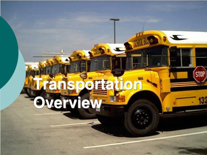 transportation overview n.