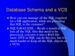 database schema and a vcs