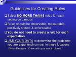 guidelines for creating rules