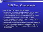 rtib tier i components
