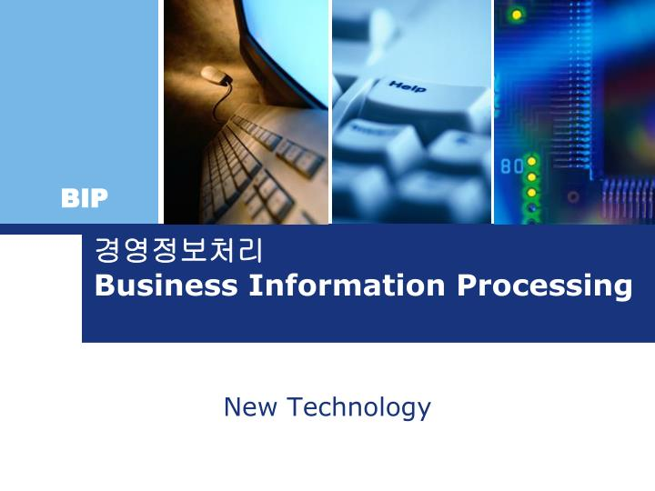 business information processing n.