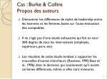 cas burke collins propos des auteurs
