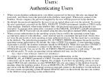 users authenticating users