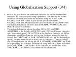 using globalization support 3 4