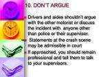 10 don t argue