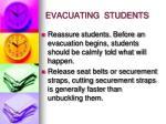evacuating students