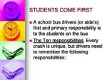 students come first