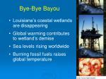 bye bye bayou