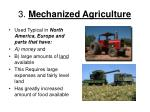 3 mechanized agriculture