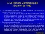 7 la primera conferencia de examen de 1980