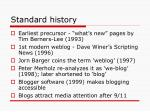 standard history