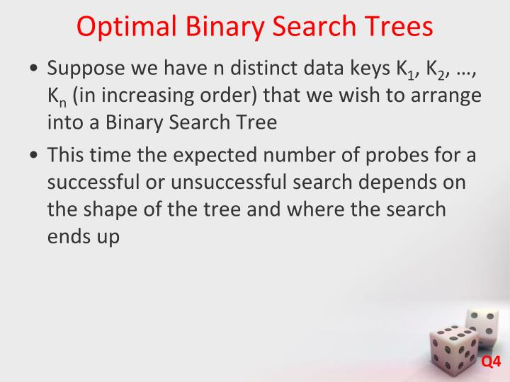 Optimal Binary Search Trees