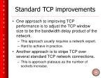 standard tcp improvements