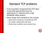 standard tcp problems