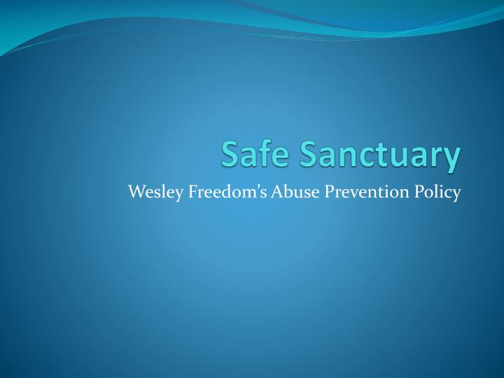 safe sanctuary n.