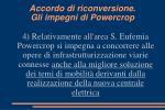 accordo di riconversione gli impegni di powercrop4