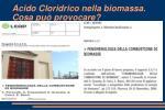 acido cloridrico nella biomassa cosa pu provocare