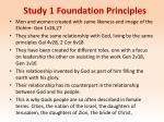 study 1 foundation principles