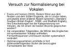 versuch zur normalisierung bei vokalen