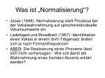 was ist normalisierung1
