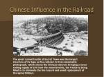chinese influence in the railroad