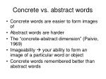 concrete vs abstract words