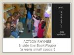 action rhymes inside the bookwagon a very small space