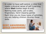 body awareness space awareness