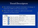 trend descriptors