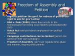 freedom of assembly and petition