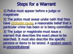 steps for a warrant