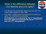 what is the difference between civil liberties and civil rights