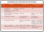 perbedaan sistem pelaporan