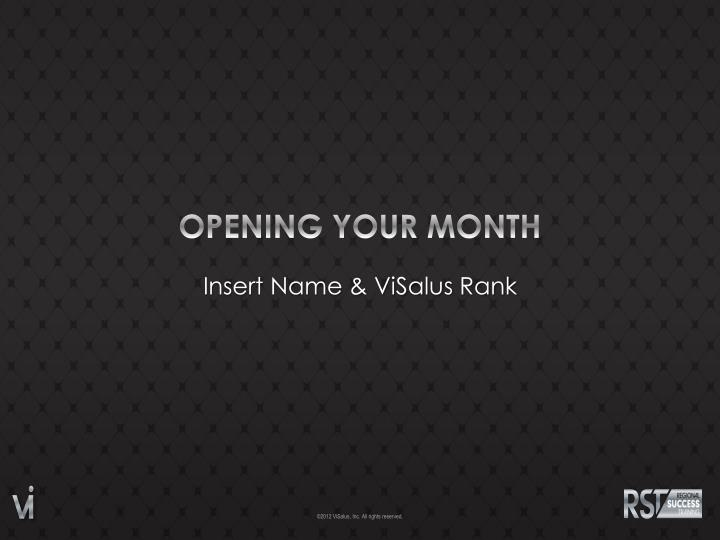 Opening your month