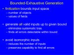 bounded exhaustive generation