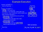 example execution