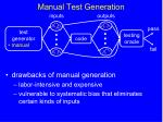 manual test generation