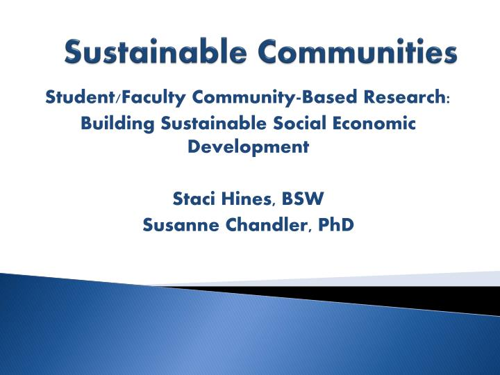 sustainable communities n.